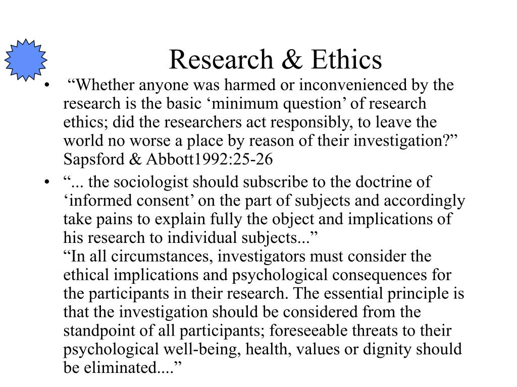 Research & Ethics
