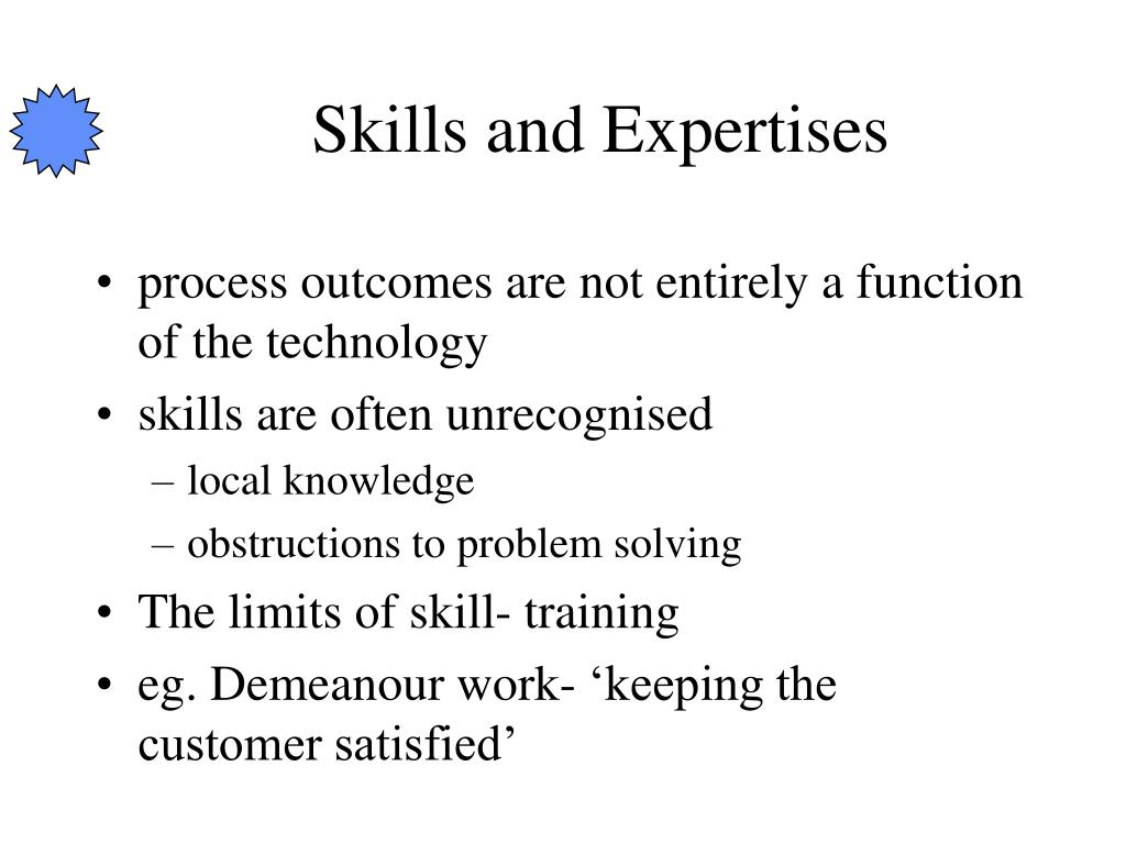 Skills and Expertises