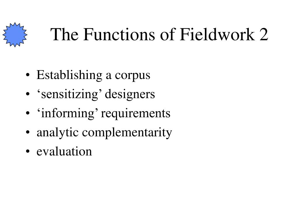 The Functions of Fieldwork 2