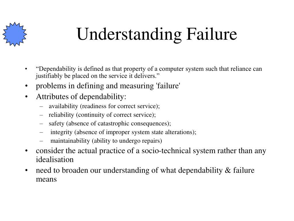 Understanding Failure