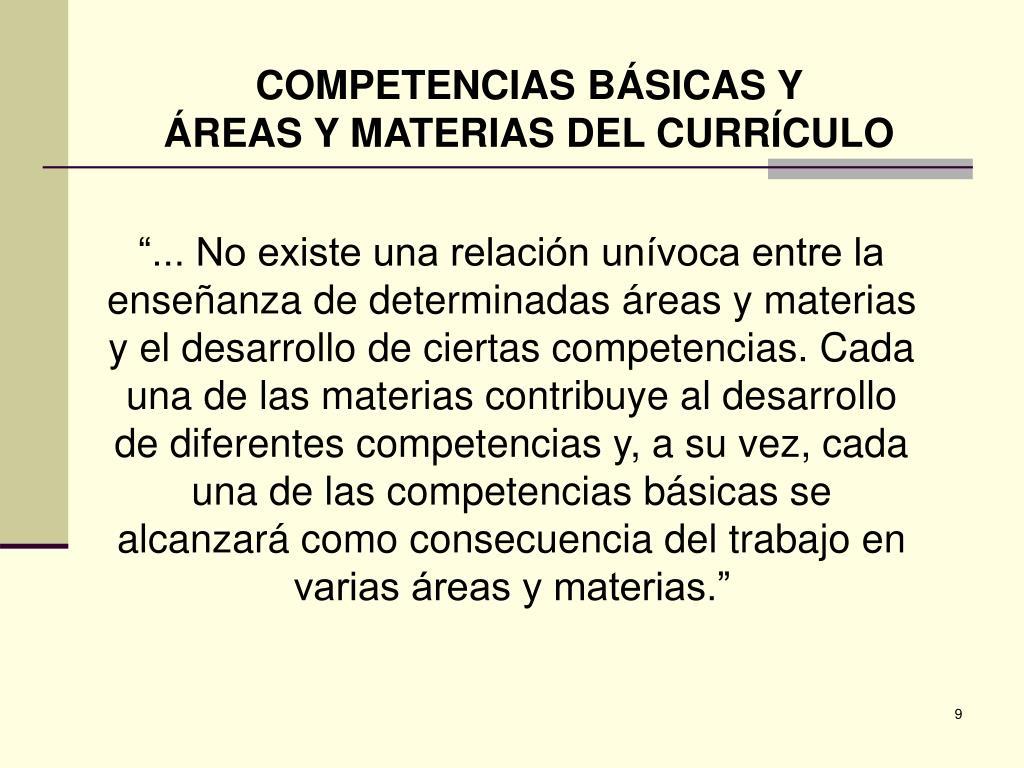 COMPETENCIAS BÁSICAS Y
