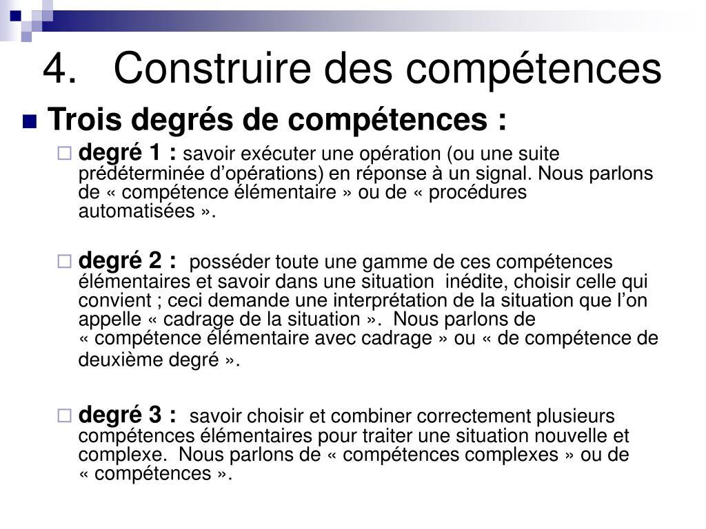 4.Construire des compétences