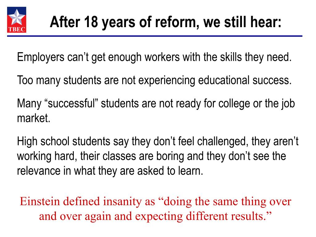 After 18 years of reform, we still hear: