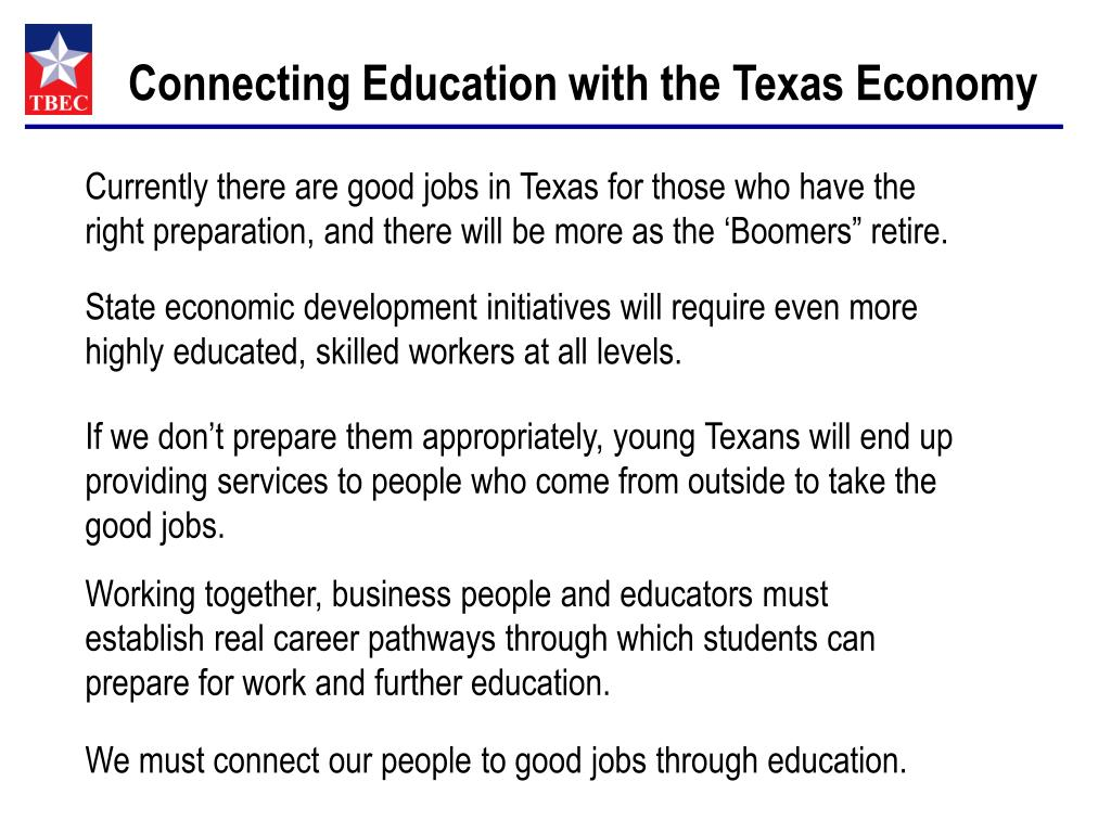 Connecting Education with the Texas Economy