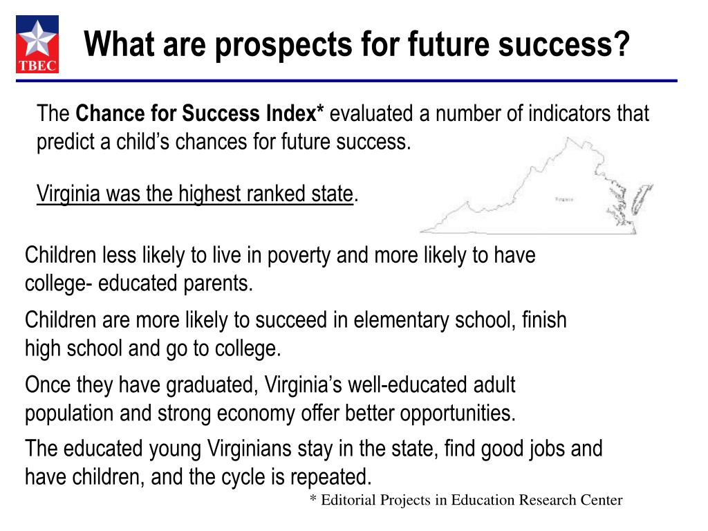 What are prospects for future success?