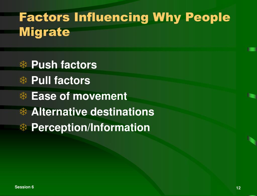 Factors Influencing Why People Migrate