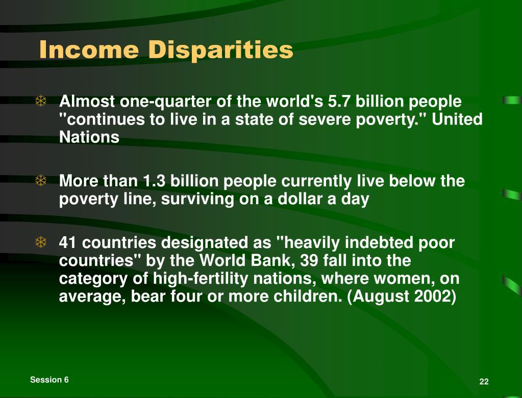 Income Disparities