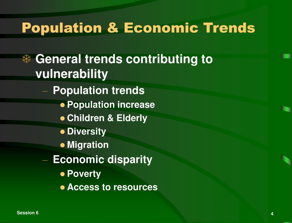 Population & Economic Trends
