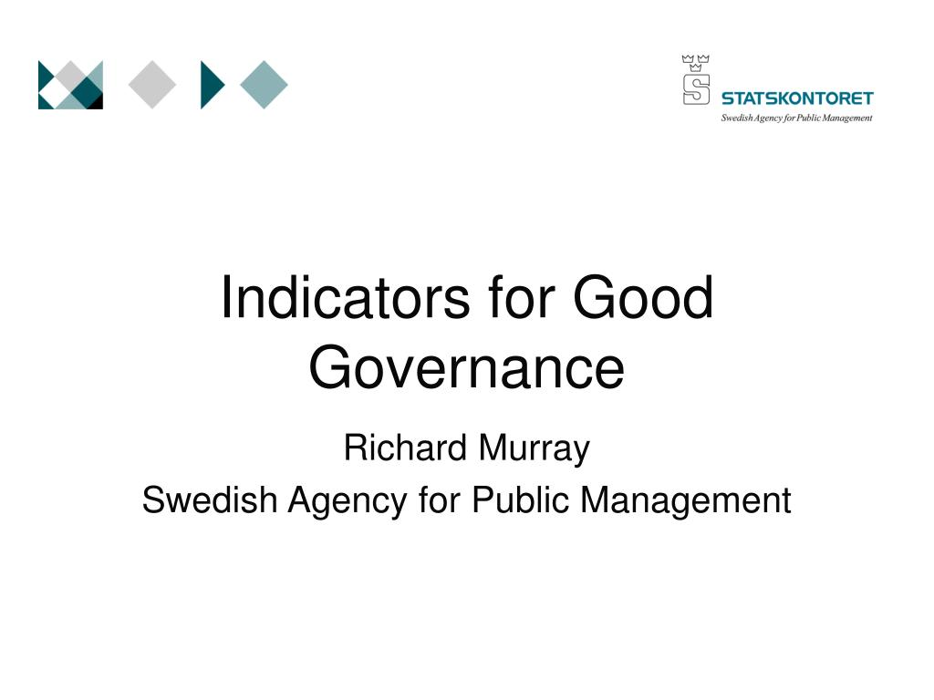 Indicators for Good Governance
