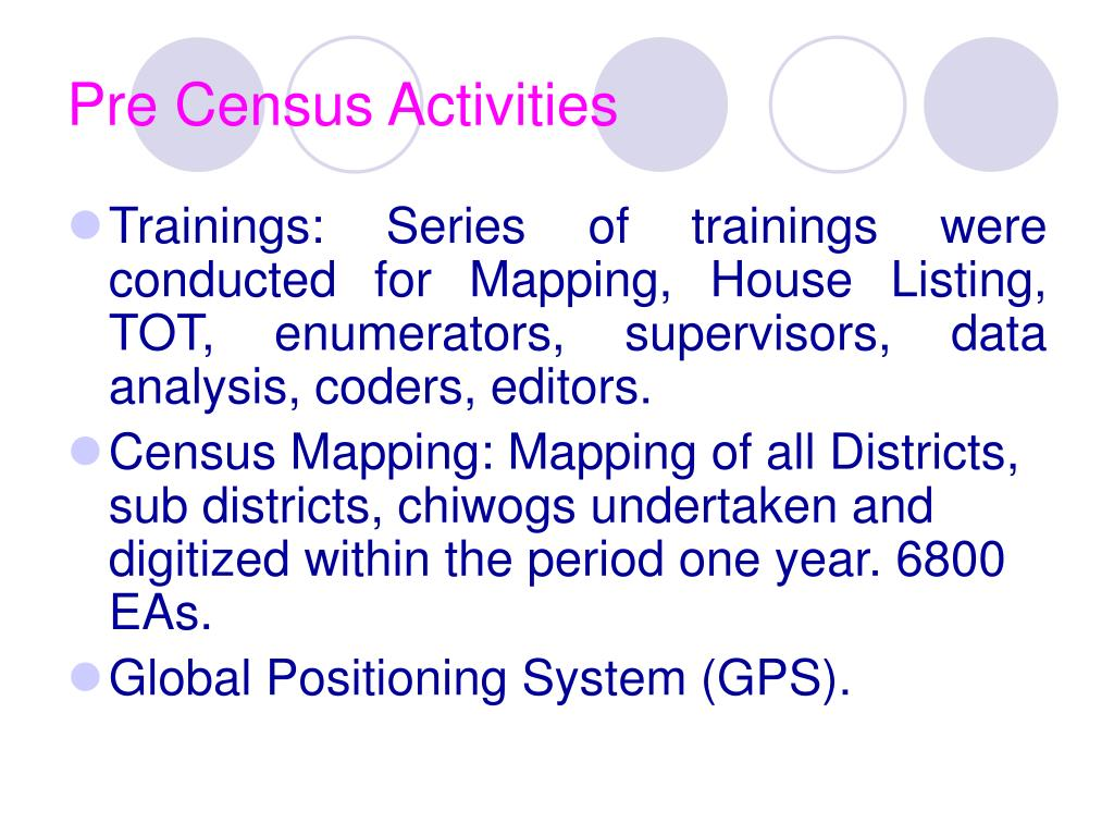 Pre Census Activities