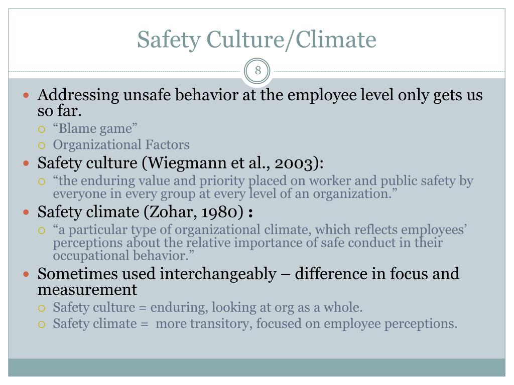 Safety Culture/Climate