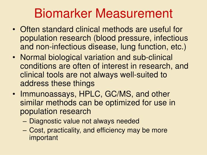 Biomarker Measurement