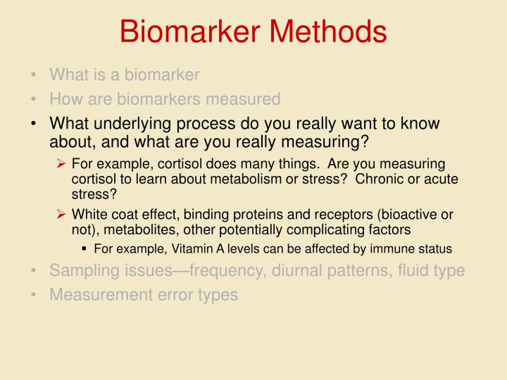 Biomarker Methods