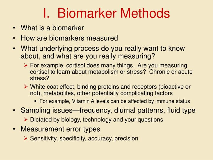 I biomarker methods