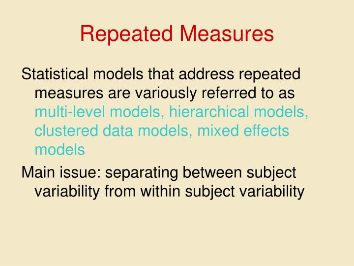Repeated Measures