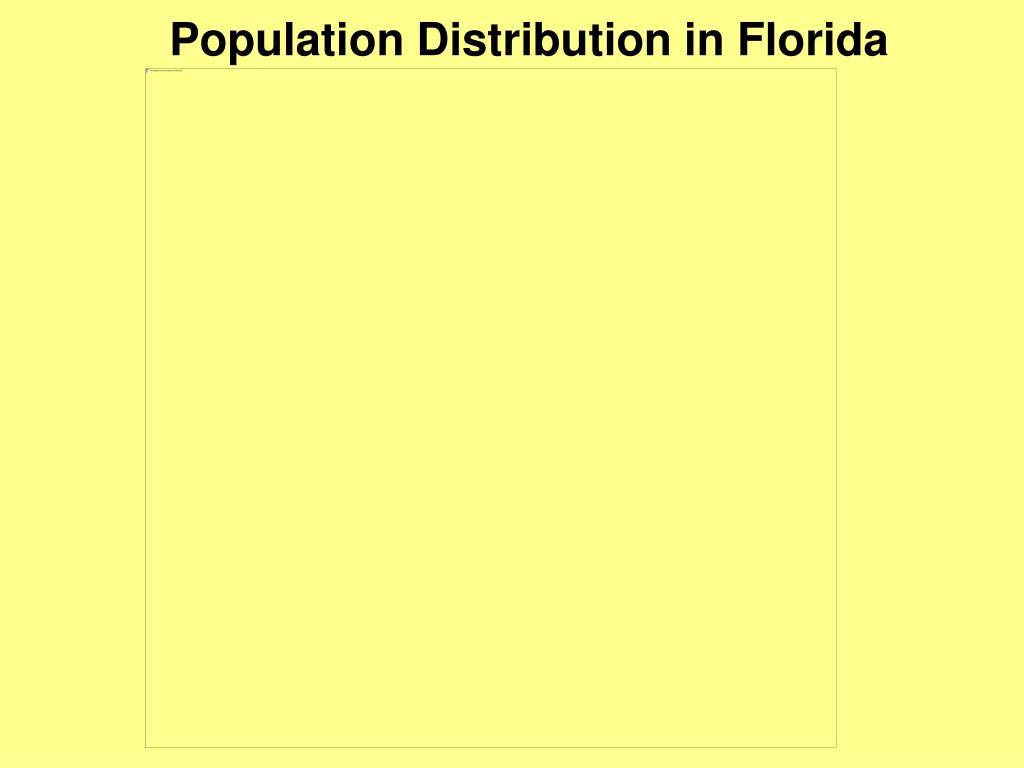 Population Distribution in Florida