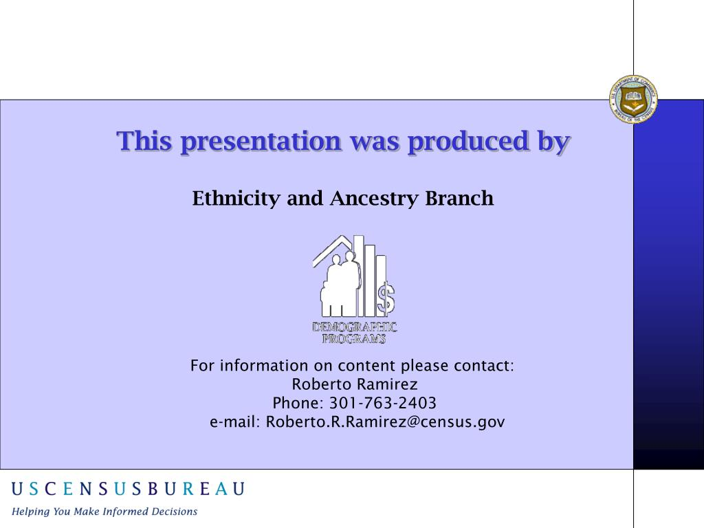 This presentation was produced by