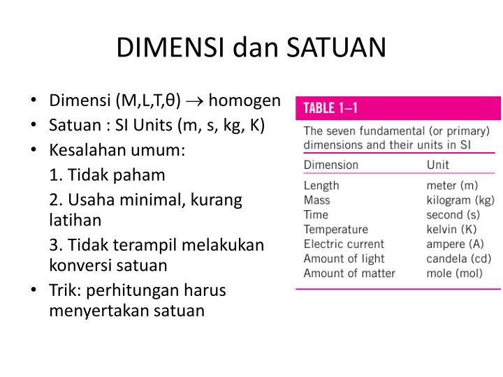 DIMENSI dan SATUAN