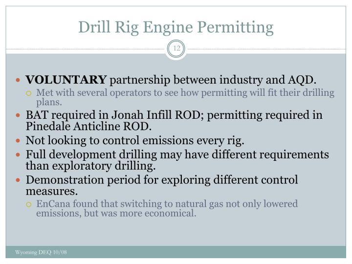 Drill Rig Engine Permitting