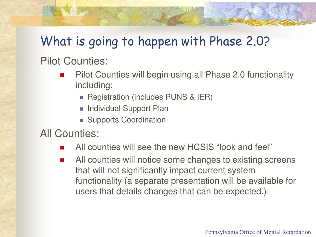What is going to happen with Phase 2.0?