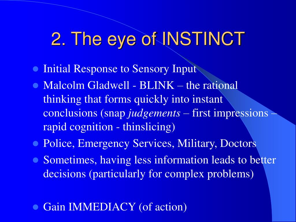 2. The eye of INSTINCT