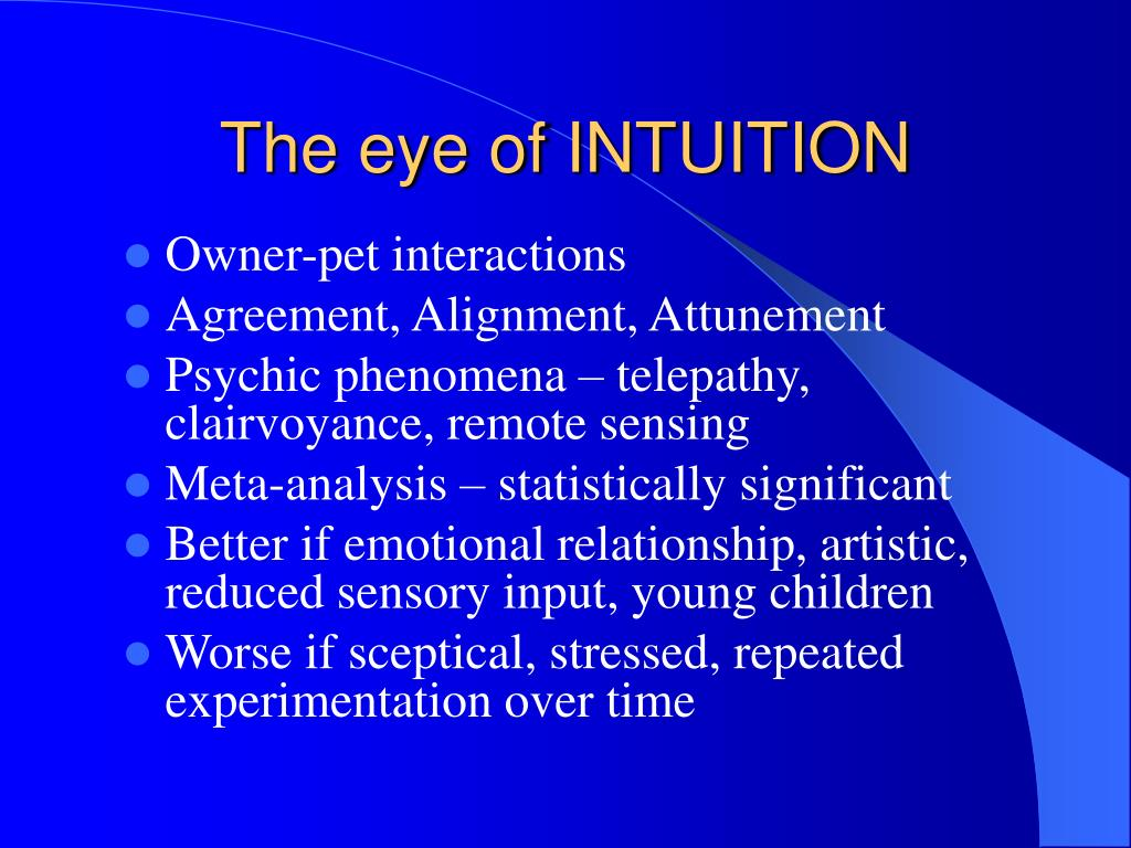 The eye of INTUITION