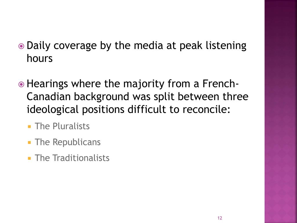 Daily coverage by the media at peak listening hours