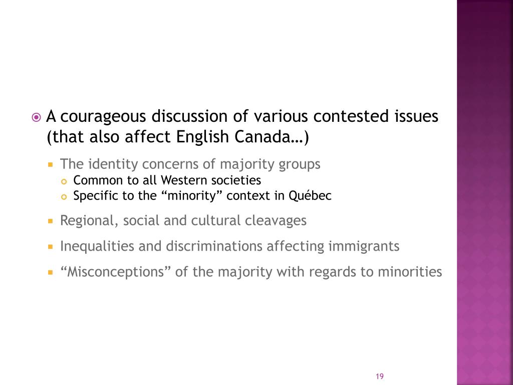 A courageous discussion of various contested issues (that also affect English Canada…)