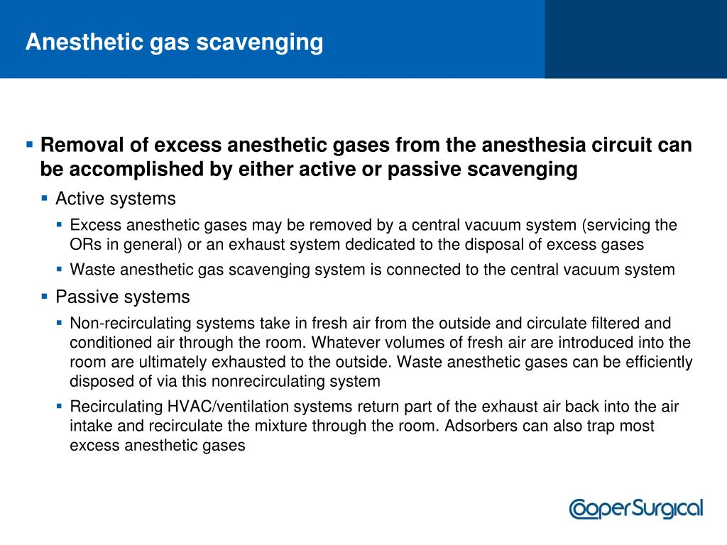 Anesthetic gas scavenging