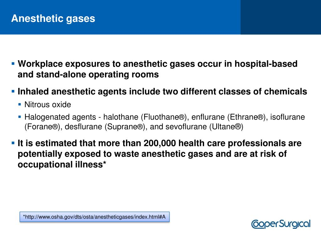 Anesthetic gases