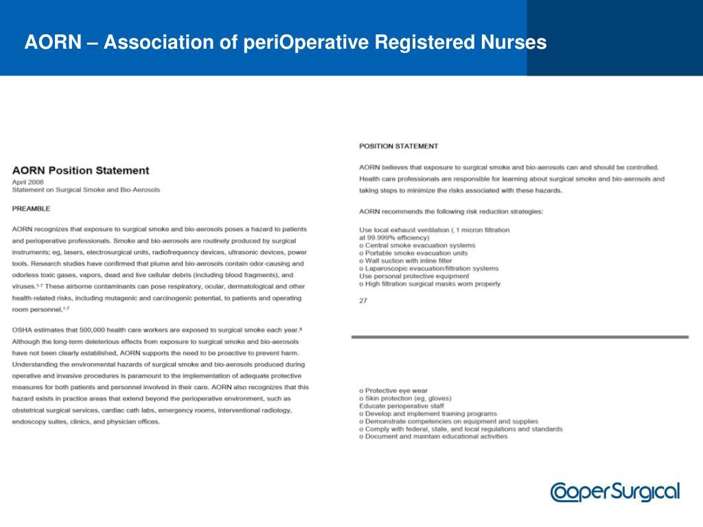 AORN – Association of periOperative Registered Nurses