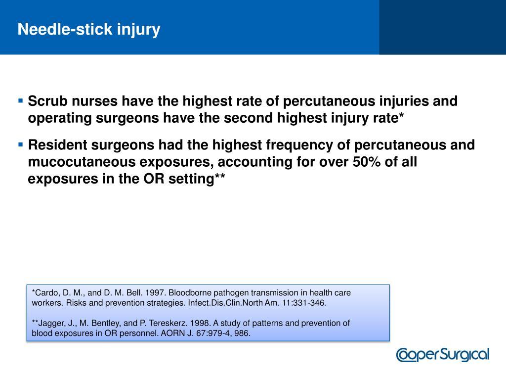 Needle-stick injury