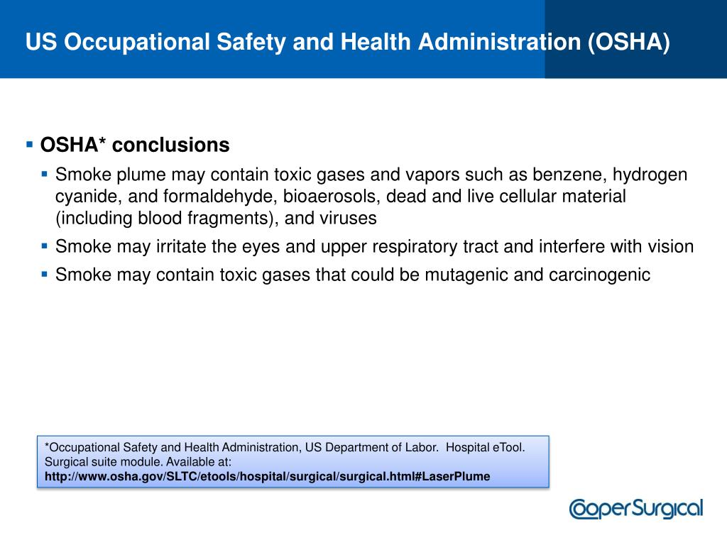 US Occupational Safety and Health Administration (OSHA)