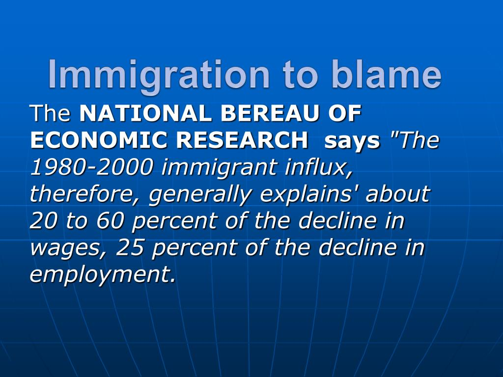 Immigration to blame