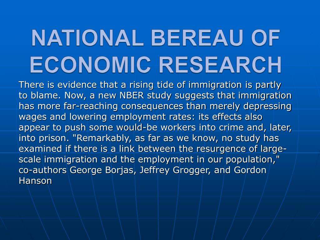 NATIONAL BEREAU OF ECONOMIC RESEARCH