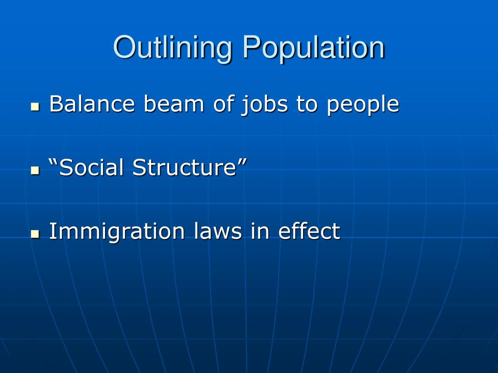 Outlining Population