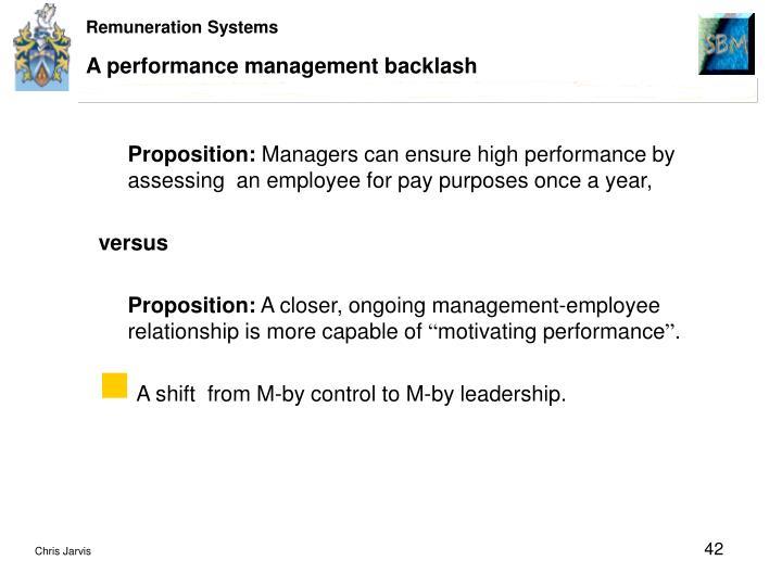 A performance management backlash