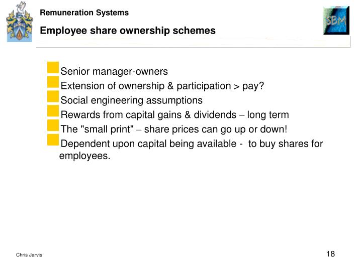 Employee share ownership schemes