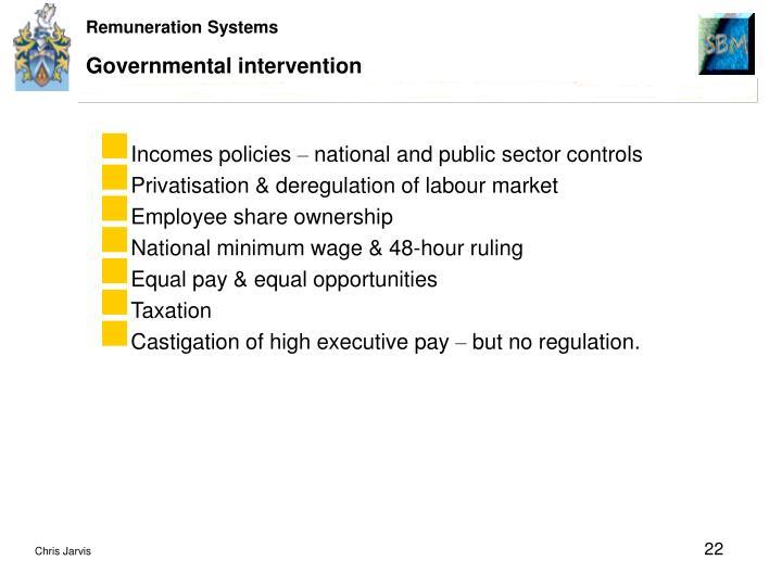 Governmental intervention