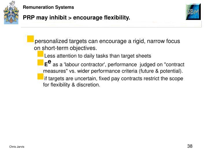 PRP may inhibit > encourage flexibility.