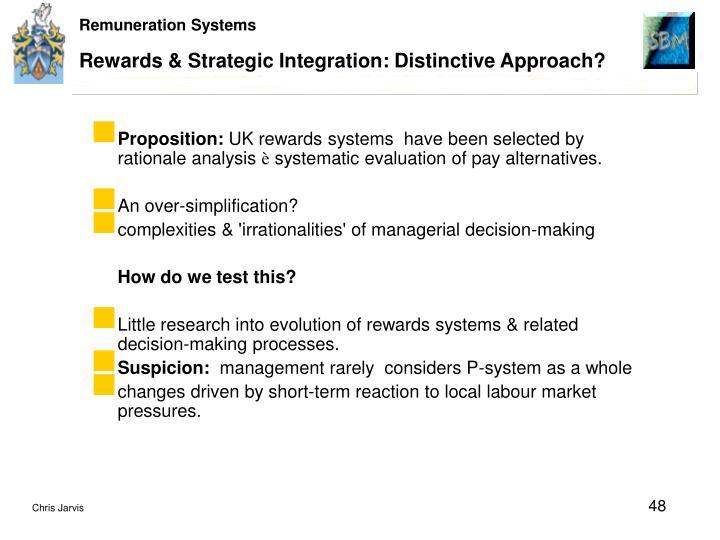 Rewards & Strategic Integration: Distinctive Approach?