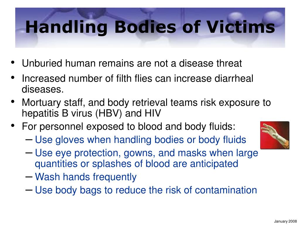 Handling Bodies of Victims