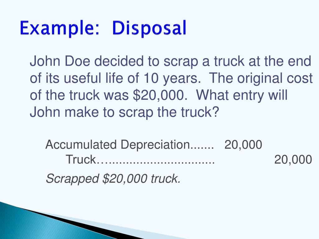 Example:  Disposal