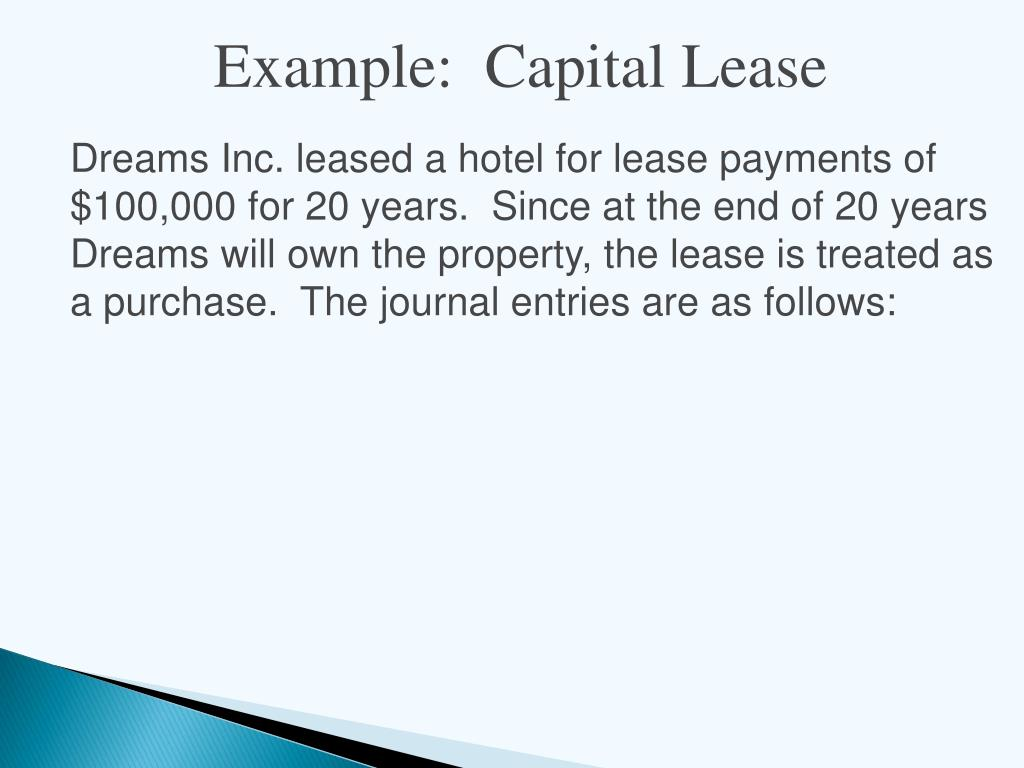 Example:  Capital Lease