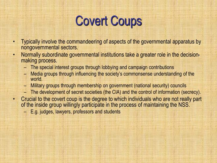 Covert Coups