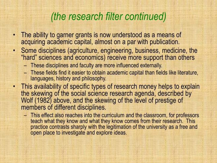 (the research filter continued)