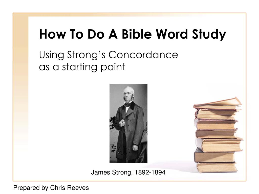 How To Do A Bible Word Study