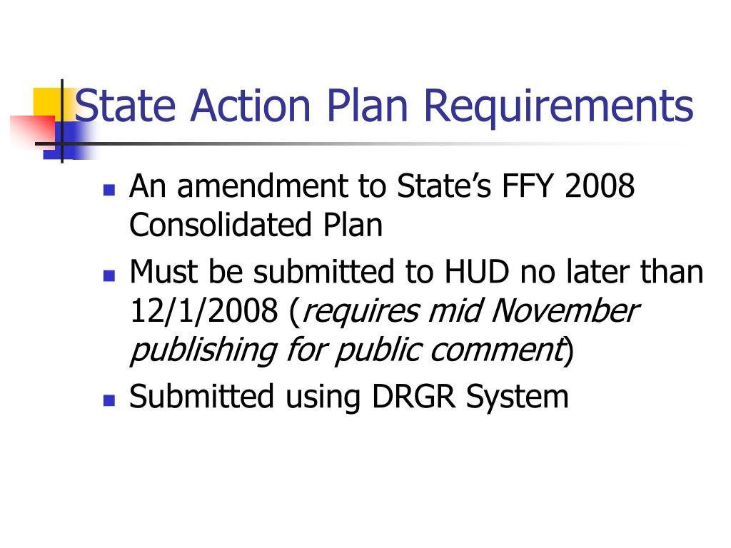 State Action Plan Requirements