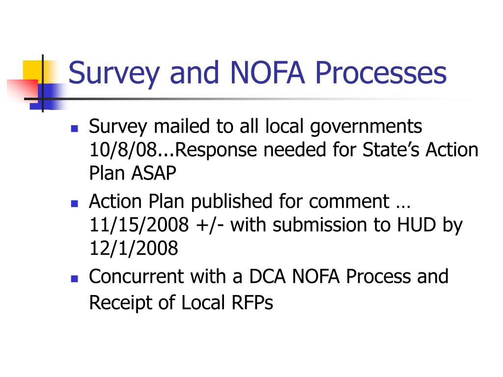 Survey and NOFA Processes