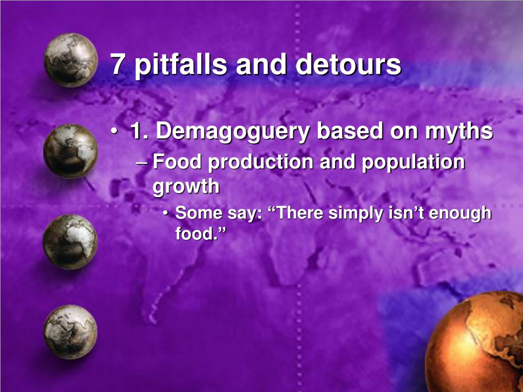 7 pitfalls and detours